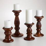 WOODEN CANDLE HOLDER  ( WC-007 )