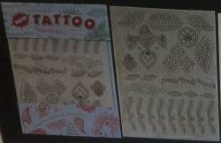 Temporary Henna transfer tattoos