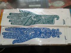 RE-USABLE RUBBER HENNA STENCIL