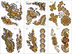 Water Transfer Tattoos - Henna Designs